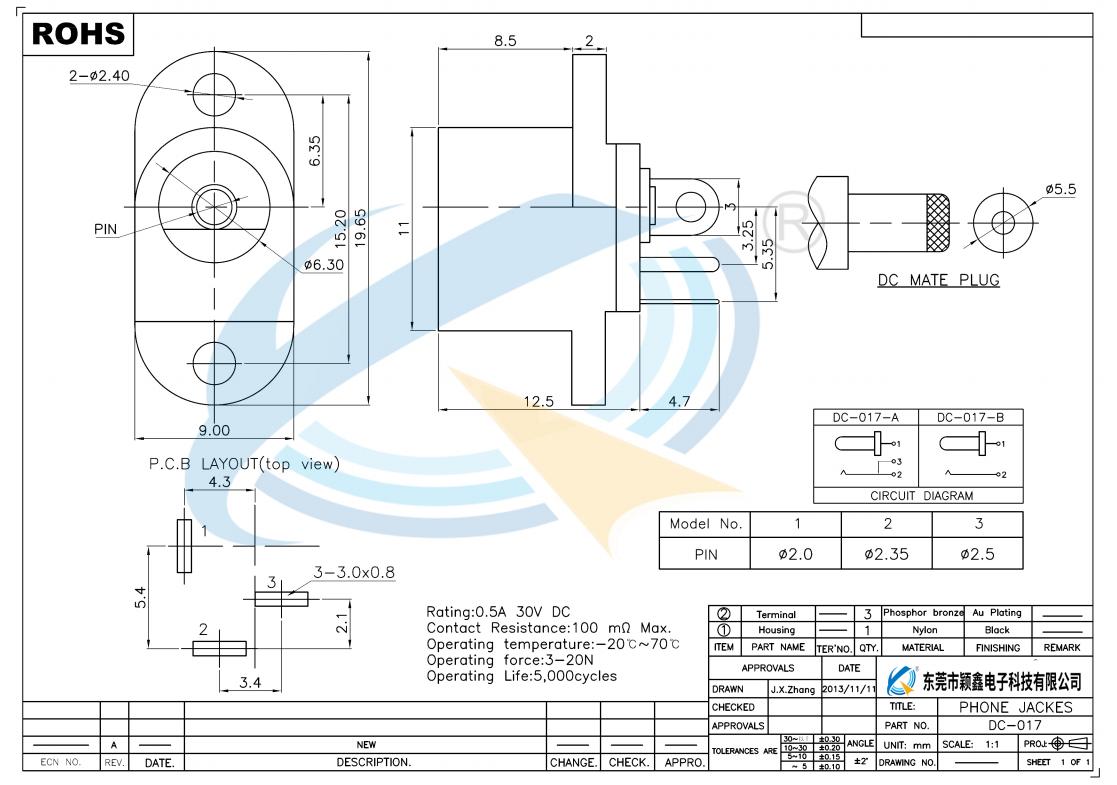 DC-017规格书下载