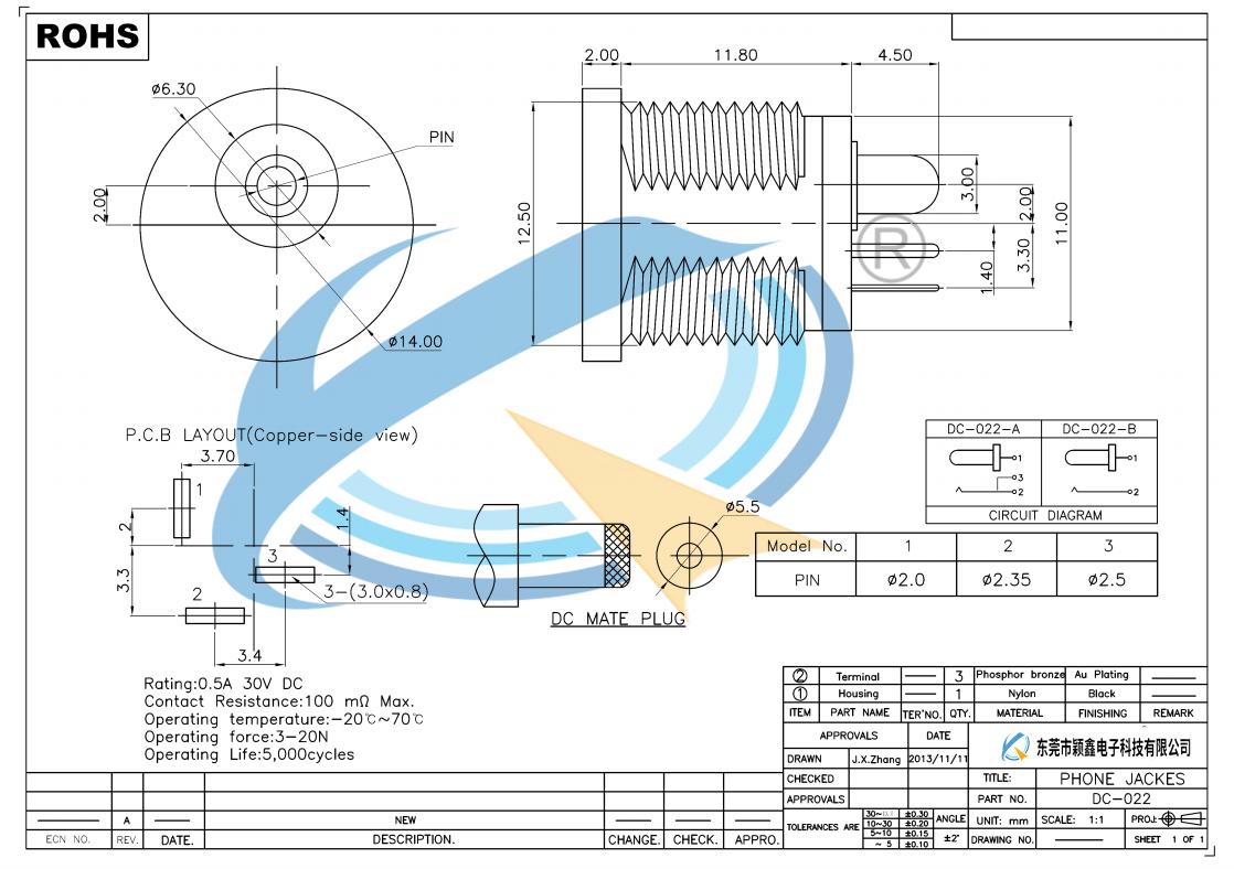DC-022规格书下载